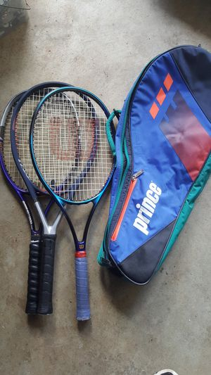 FAMILY TENNIS RACKETS WITH COVER for Sale in West Linn, OR