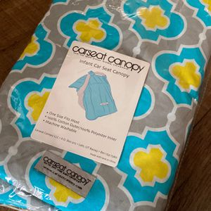 Carseat Canopy - Blue/Grey/Yellow for Sale in Torrance, CA
