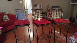 3 red bar stool for Sale in Lancaster, TX