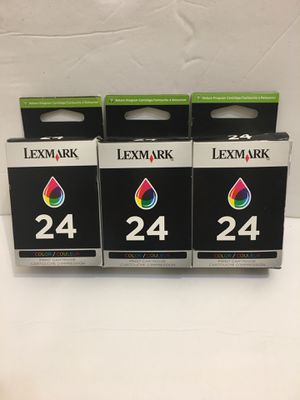 New Genuine Lexmark 24 Ink X Series X3550 X3430 Z Series Z1410 Z1420 3PK for Sale in Worcester, MA