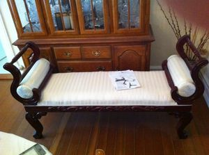 Bench (Carved Wood) (Like New) $275 for Sale in Portland, OR