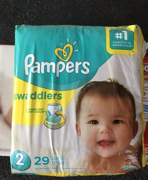 Pampers Swaddlers Diapers count 29 Size 2 for Sale in Garden Grove, CA