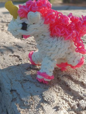 Happy unicorn rainbow loom for Sale in Avondale, AZ