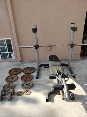 WEIDER PRO 490 DC WEIGHT BENCH for Sale in Los Angeles, CA