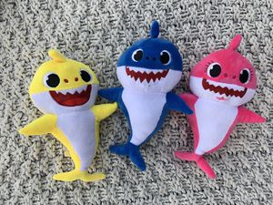 Baby Singing Shark Plush Toy Musical Sound Soft Cartoon Doll Full Song for Kids Children's Gift for Sale in Whittier, CA