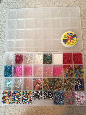 Various Beads and Stretch Cord for Sale in Cary, NC