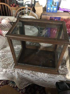 Small wood glass display cabinet for Sale in Crewe, VA