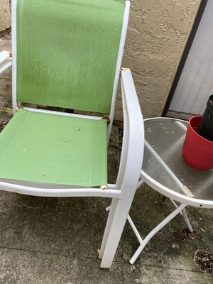 2 Chairs- One Table Free! for Sale in Palm Bay, FL