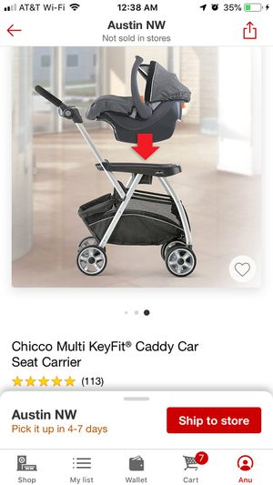 Chicco car seat caddy for Sale in Round Rock, TX