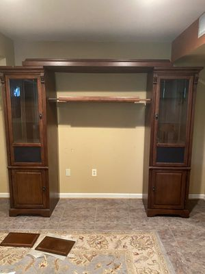 Wood wall unit/entertainment center for Sale in New Market, MD