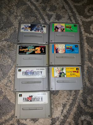 7 Super Famicom games (Japan Nintendo collectibles) AMAZING DEAL for Sale in Cumming, GA