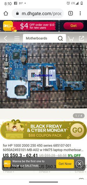 Hp 1000 2000 250 450 motherboard for Sale in Wichita, KS