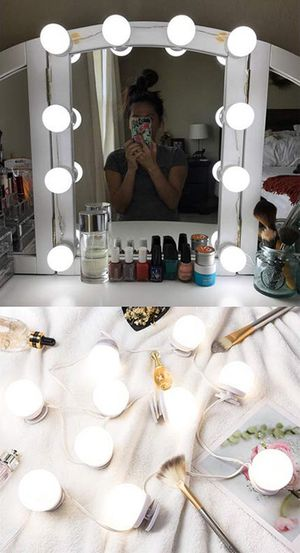 $20 NEW DIY Vanity Mirror Kit 10pcs Dimmable LED Light Bulb Makeup Dressing Table (USB Connection) for Sale in Whittier, CA