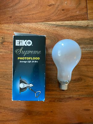 Eiko Supreme photo flood lamp for Sale in San Diego, CA