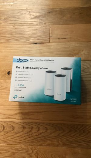 NIB TPLINK Whole Home Mesh WiFi Deco 5500sq ft Router for Sale in Winston-Salem, NC