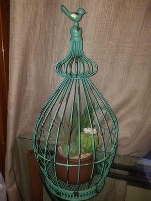 Decorative Bird Cage + fake plant for Sale in Cicero, IL