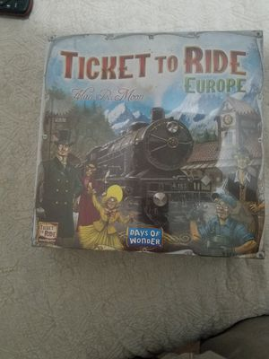 TICKET TO RIDE EUROPE (boardgame) for Sale in San Bernardino, CA