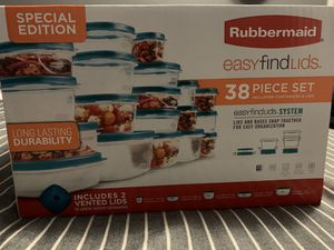 Rubbermaid Easy Find Vented Lids Food Storage Containers, 38-Piece Set for Sale in Richmond, CA