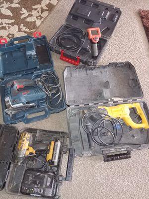 Conbo de herramientas rotary hammer dewalt camara inspección ridgy taladro de impacto bosthich y jigsa bosh for Sale in Falls Church, VA