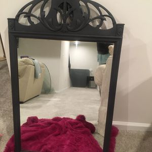 Painted Black Antique Mirror for Sale in Accokeek, MD