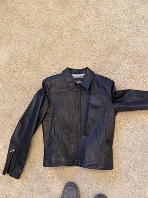 Women's black leather Harley Davidson motorcycle jacket for Sale in Upland, CA