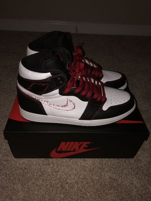 Jordan 1 Retro High Defiant White Black Gym Red Size 11.5 for Sale in Mint Hill, NC