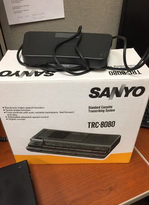 Sanyo TRC8080 analog standard cassette transcriber for Sale in Silver Spring, MD