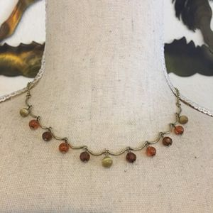 Vintage faux moonstone and amber bead necklace for Sale in Henderson, NV