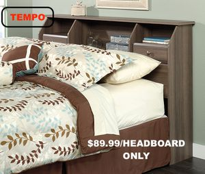 Full/Queen Bookcase Headboard, Diamond Ash for Sale in Norwalk, CA