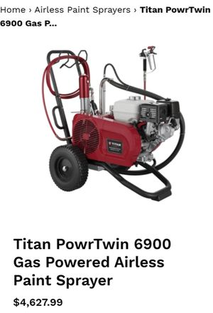 TITAN POWR TWIN 6900 GAS POWERED AIRLESS PIANT SPRAYER for Sale in Vancouver, WA