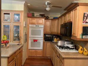 Kitchen w /double oven , cooktop 14 cabinets wood for Sale in Hollywood, FL