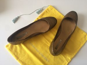 Cynthia Vincent bronze leather ballet flats Sz 9 for Sale in San Diego, CA