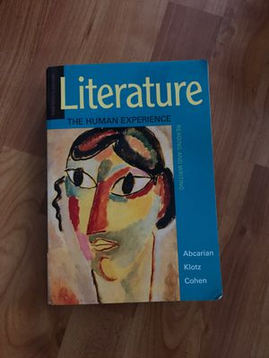 Literature: The Human Experience. 13th Edition. By Abcarian Klotz Cohen. for Sale in Manchester, CT