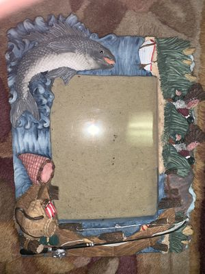 Fishing picture frame for Sale in Powhatan, VA