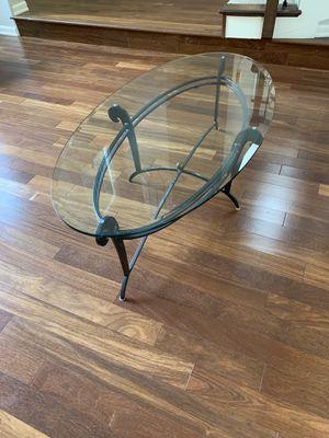 Coffee Table Glass & Iron for Sale in Kirkland, WA