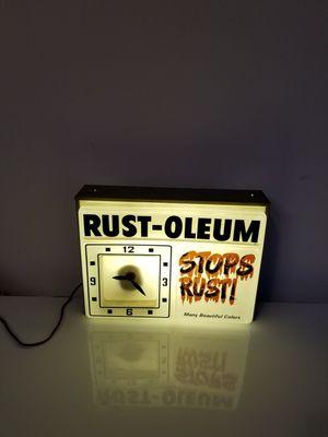 Rust-Oleum sign/clock antique light vintage for Sale in Hollywood, FL