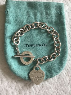 Tiffany heart tag toggle bracelet for Sale in Spring Valley, CA