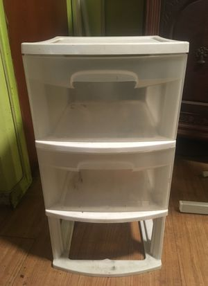 Sterilite 3 drawer plastic storage organizer for Sale in Harrison, NJ