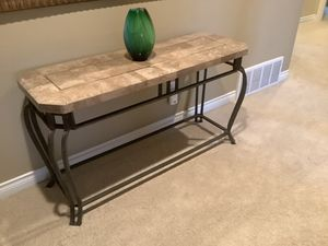 Stone and metal console table for Sale in Issaquah, WA