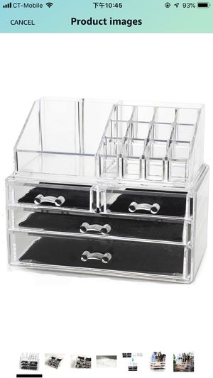 Unique Home New Design Bottom Layer Increase Fits Most Conceal Acrylic Makeup Organizer and Cosmetic Make Up Organizer Countertop Storage Box Brush H for Sale in Chino, CA