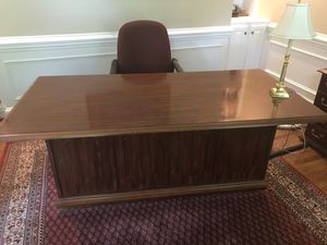 Executive desk and lateral file for Sale in Charlotte, NC