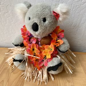 Build-A-Bear Workshop Koala Bear Plush Stuffed Animal In Hawaiian Outfit With Swim Suit, Grass Skirt, Coconut Bra Top And Flower Lei Necklace for Sale in Elizabethtown, PA