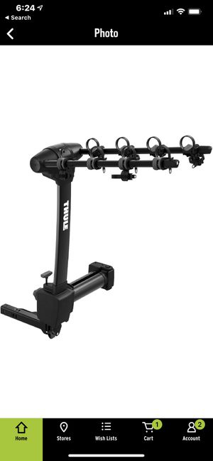 Thule 4 bike swing out bike rack (hitch) for Sale in Glenwood, OR