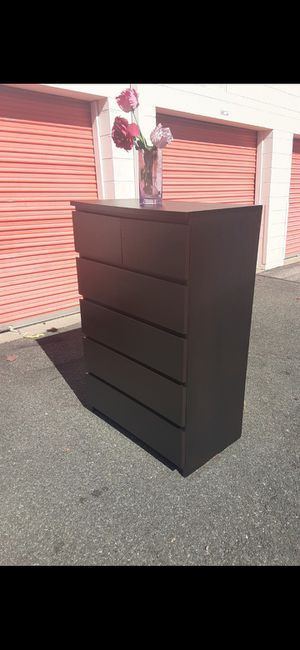 IKEA MALM BLACK 6 DRAWER CHEST for Sale in Fairfax, VA