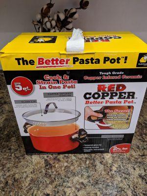 New red copper pasta pot for Sale in Laveen Village, AZ