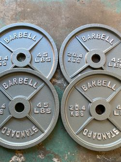 Olympic Weights (4 x 45s) for Sale in Lakewood,  CA