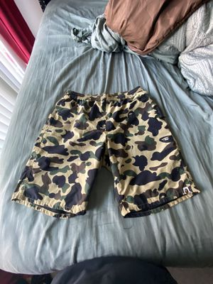 Bathing ape Bape shorts green camp size XL for Sale in Winter Park, FL