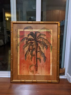 Palm framed wall picture for Sale in Auburn, WA