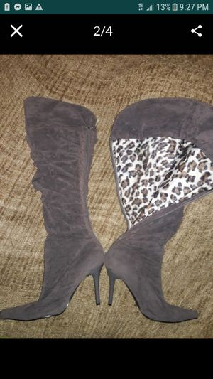 Thigh High Gray Boots for Sale in Las Vegas, NV