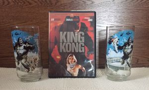 """""""KING KONG"""" Lot, 1 DVD & 2 Collectible Glasses for Sale in St. Peters, MO"""